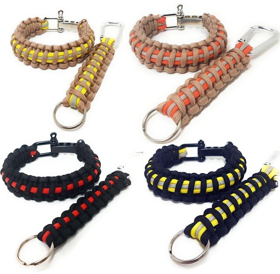 Combo Firefighter Paracord Bracelets
