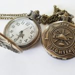 Montre de poche Pompier / Firefighter Pocket watch retro